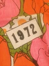 Vintage 1972 Linen Kitchen Tea Towel/Calendar image 6