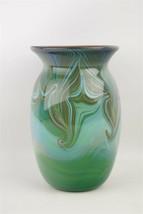 "Beautiful Loren Chapman Signed Small Blown Glass Vase 6.5"" Modern Art 1980 - $94.95"