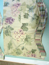 "Pair 2 Waverly Fairfield Blossom Hill Mulberry Valance 78"" X 14"" NEW - $55.00"