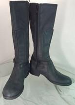 Clarks Women's 8 W Black Leather Knee High Boots Zip Closure - $59.38