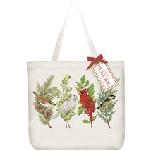 Eco Friendly Canvas Tote Bag By Mary Lake Thompson-Songbirds-Holiday - $19.94
