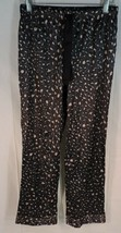 NWT Victoria's Secret Lounge Pants Size XS Black Pink SOFT SATIN Pajama ... - $25.65