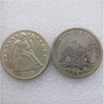 1848 SEATED LIBERTY SILVER DOLLARS - $7.00