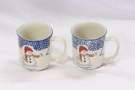 Thomson Pottery Snowman Xmas Mugs Lot of 9 image 6