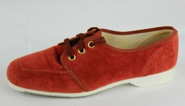76b16c256bf Vintage Hush Puppies women's loafer red shoes laces made in USA size