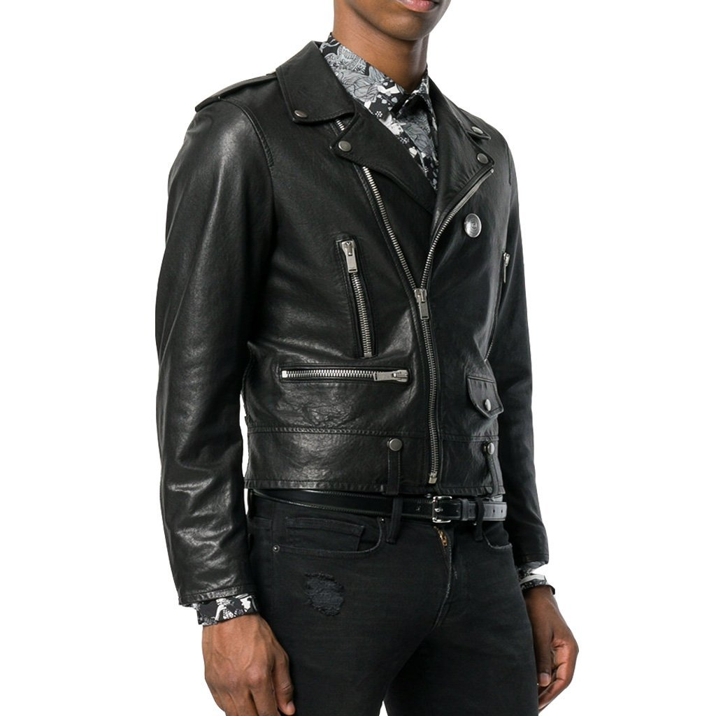 STUNNING STYLE MEN MOTORCYCLE LEATHER JACKET