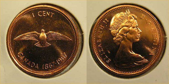 1998W CANADA 1 CENT PROOF-LIKE PENNY COIN