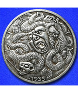 Medusa hobo nickel on walking liberty  obverse thumbtall