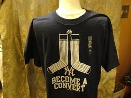 MLB New York Yankees Become a Convert blue short sleeve t-shirt size medium - $14.20