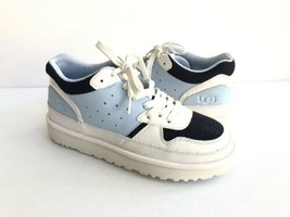 UGG HIGHLAND FRESH AIR / WHITE / NAVY LEATHER SNEAKER US 8.5 / EU 39.5 /... - $88.83