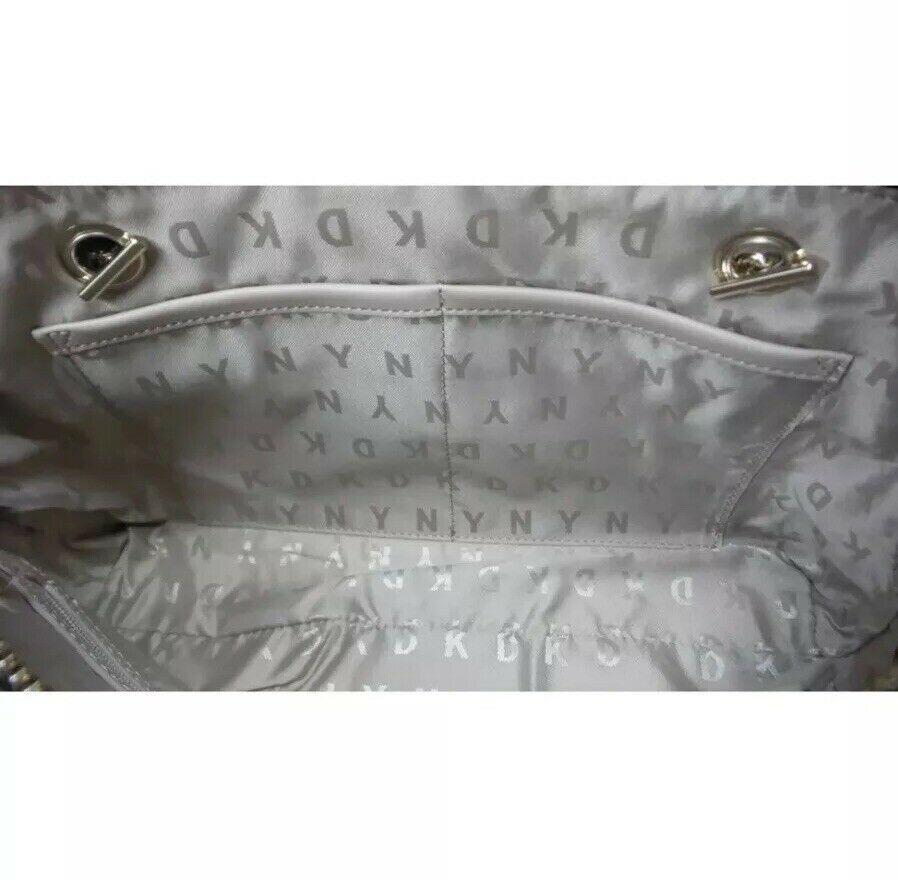 DKNY Signature Logo  Handbag Brown Heritage Holiday Demi Bag NEW