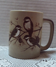 Vintage Stoneware CHICK A DEE BIRDS Coffee Cup  - $9.00