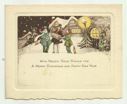 Vintage Christmas Greeting Card 1920's Unused     - $9.99