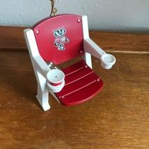 Used University of Wisconsin Bucky Badger Plastic Stadium Seat Christmas... - $12.19