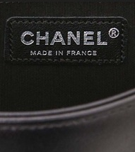 AUTH CHANEL LIMITED EDITION MIDNIGHT BLUE CRYSTAL LAMBSKIN MEDIUM BOY FLAP BAG image 8