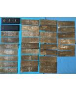 Tibetan antique Buddhist book Shakyamuni mantra copper Buddha wooden cov... - $199.00