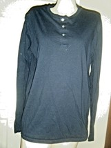 MERONA DK NAVY COTTON KNIT LONG SLEEVE TOP SIZE L - $16.44