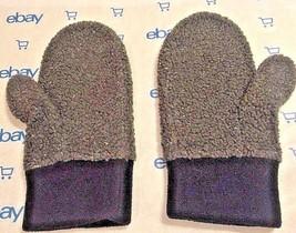 Eddie Bauer Gray & Black Mittens One Size F Adult NEW WOT - $8.90