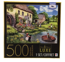 Big Ben Luxe Mill Cottage Jigsaw Puzzle 500 Pc Premium Blue Board Box Easel  - $19.80