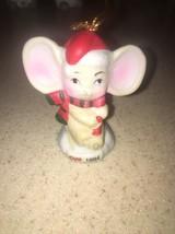 1994 CVS Ceramic Christmas Mouse in Santa Hat Tree Ornament - $5.00