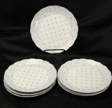 "Nikko American Country Forget Me Not Salad Plates 8"" Lot of 7 - $61.73"