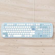Actto KBD58 Korean English Membrane Keyboard USB Wired Typewriter Design (Blue) image 4