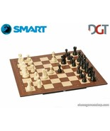 DGT SMART Board WI + Plastic weighted chess pieces - Electronic CHESS se... - $316.62