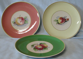 Syracuse Old Ivory Accent Salad Plate 3 Different Apples - $48.40