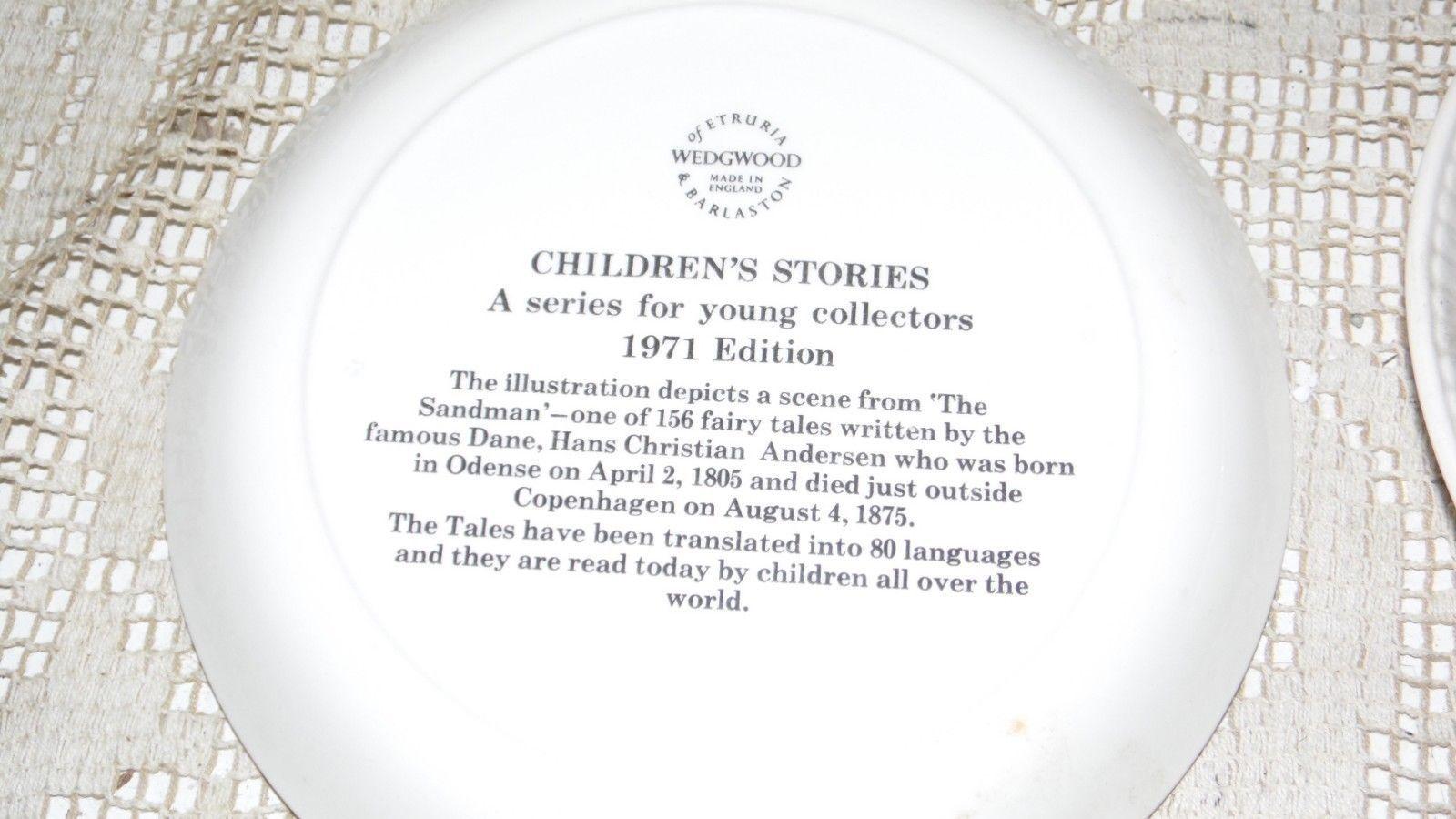 WEDGWOOD CHILDREN'S SANDMAN/TINDERBOX 1971-72 HANS CHRISTIAN ANDERSON PLATES SET