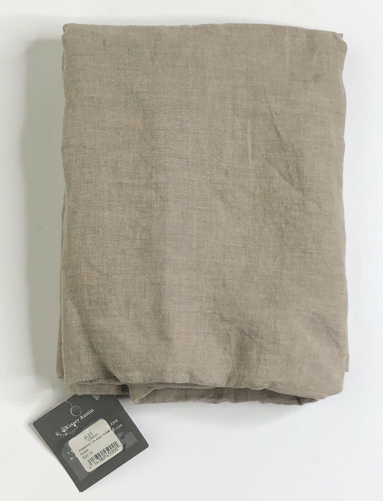 Restoration Hardware Stonewashed Belgian Linen King Sham Prairie NEW $99 - $44.99