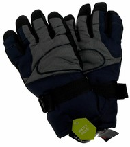 Athletech Mens Blue Gray Black Ski Gloves 3M Thinsulate Insulation Water... - $12.39+