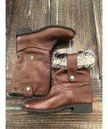 New! Cole Haan Breene Faux Fur Waterproof ChestnutLeather Size 10 B w04999 - $93.50