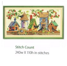 BIRDHOUSE NEIGHBORHOOD - CROSS STITCH PATTERN ONLY (1a) - $8.86