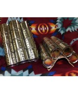 Native American Indian Ceremonial Stomp Dance Cans 32 Shakers 4X4 w Leat... - $109.99