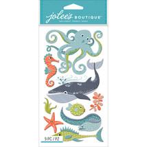 Jolee's Le Grande Dimensional Stickers-Ocean Animals - $10.63