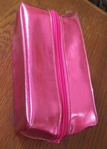 BareMinerals Hot Pink Metallic Cosmetic Makeup Bag Clutch - $9.49