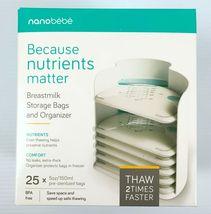 Nanobebe 25 Pack Breast Milk Storage Bags and Organizer - $18.90