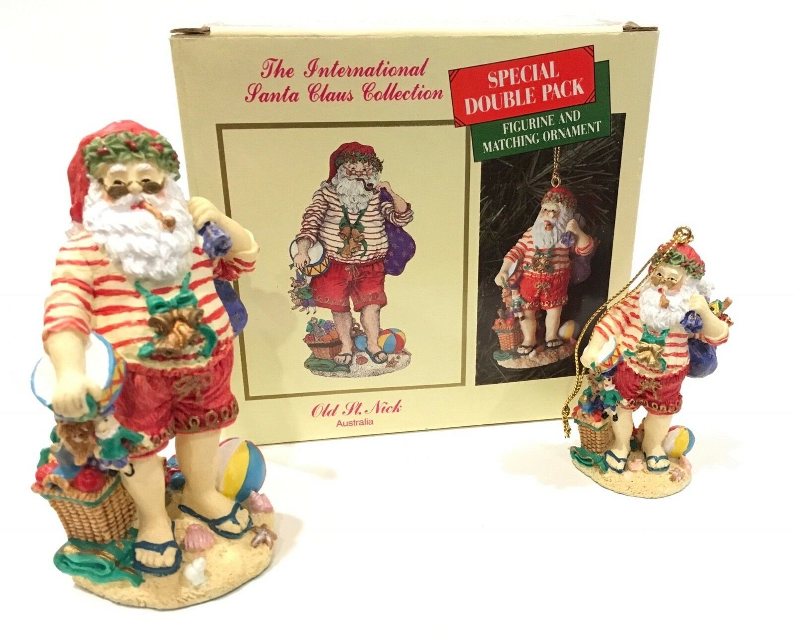 Primary image for The International Santa Claus Collection Australia Old St. Nick Double Pack IOB