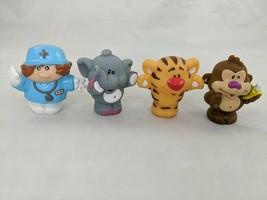 "Little Tikes Nurse Doctor Tiger Elephant Monkey FIgure Lot 2.25"" - $9.95"