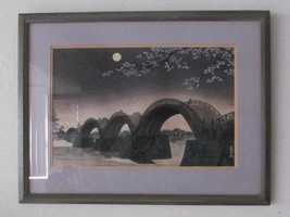 "1950 Original Woodcut Painting ""Kintai Bashi Bridge"" By Tokuriki Tomikic... - $259.99"