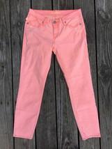 ROCK & REPUBLIC Womens Hamburg Pushpop Skinny Ankle Jeans Orange Bright ... - $11.87