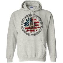 Flower Peace Sign She's A Good Girl Loves Mama Jesus And America Hoodie ... - $27.74+