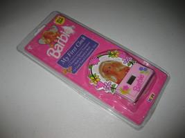 New & Sealed Barbie My First Clock 1995 Mattel Hope Pink Floral Prink NOS Sealed - $24.74