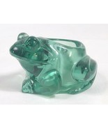 Indiana Glass Spanish Green Frog 07138 Votive Candle Holder Paper Weight  - $12.73