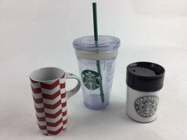 Starbucks ToGo Tumbler 16oz 2011 Insulated cold cup Clear Lot Mugs Lids - $14.28