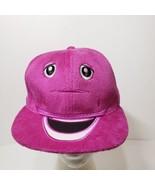 Adult Barney Purple Dinosaur Plush Snapback Hat Ball Cap - $19.34