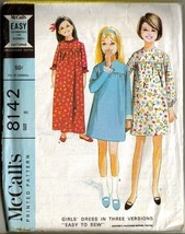 "Vintage 1965 McCall's #8142 ""EASY TO SEW"" Girl's Dress, Sz 8 - $9.99"