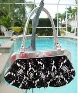 Awesome Sliver, Black & White  Beaded Handbag~Purse~Very Gently Used~Fun... - $49.99