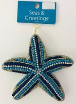 "Seas & Greetings Beaded Jeweled 5"" Starfish Nautical Christmas Ornament ... - $17.41"