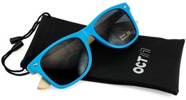 Oct17 Wood Bamboo Wooden Vintage Sunglasses Eyewear For Mens Womens (Blu... - $18.83